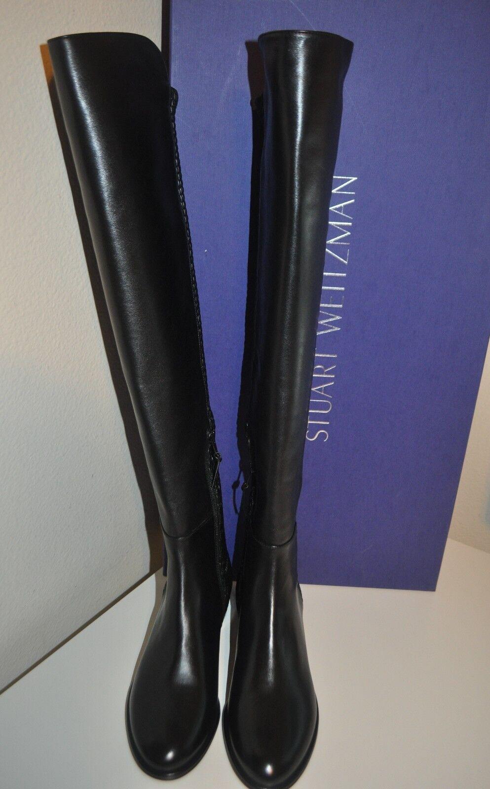 e5b38a8dcb7 NIB  785+ Stuart Weitzman Alljenn Over the Knee 5050 OTK Boot Black Leather  6.5