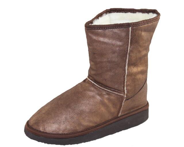 Mancapane Schuhe Shoe Leder Schurwolle Winterstiefeletten Gr.37-41 086 braun