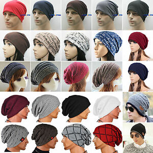 Men-Women-Warm-Winter-Baggy-Hat-Knit-Ski-Beanie-Skull-Slouch-Oversize-Cap-Unisex
