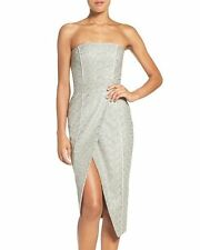 MISHA COLLECTION 'OLIVIA' CONVERTIBLE EMBROIDERED ASYMMETRICAL DRESS  sz 6