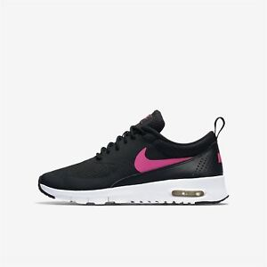 d13ad8ada6 NIKE AIR MAX THEA (GS) BLACK/PINK 814444 001 KIDS UK 3-5 ...