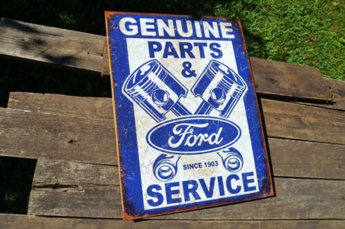 Trucks Mustang Genuine Ford Parts /& Service Pistons Tin Metal Sign Dealer