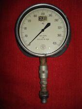 Acco 6 38 Helicoid Pressure Gage 0 400 Kips On 409 Sq In Ram Steampunk