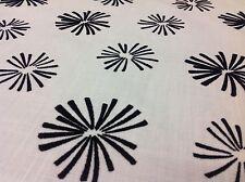 Clarke & Clarke Flock Starburst Upholstery Fabric- Tribal Star/Charcoal - 4.4 yd