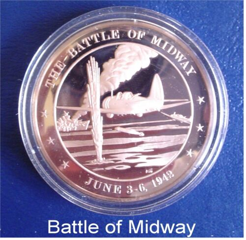 1942 The Battle of Midway Solid Broze Medal