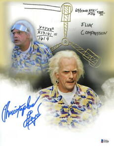 CHRISTOPHER LLOYD SIGNED 11X14 PHOTO BACK TO THE FUTURE DOC BROWN AUTO BECKETT B