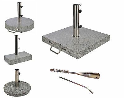 Sonnenschirmständer #verschiedene Größen Designs# Granit Schirmständer Rollen