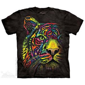 Tie Dye Ranbow Bengal Cat Face T-Shirt 3YAUOaCD