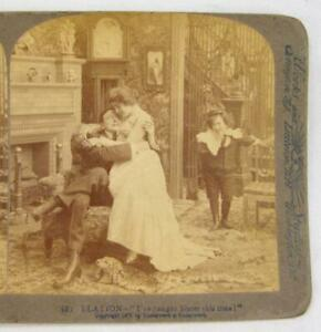 Stereoview-Underwood-Elation-Ive-Caught-Sister-This-Time-Man-Holding-Woman-O