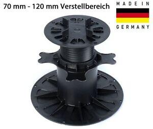 Plattenlager 70-120 mm Stelzlager Stellfuß Stützenfuß Auflagefuß Keramik Fliesen