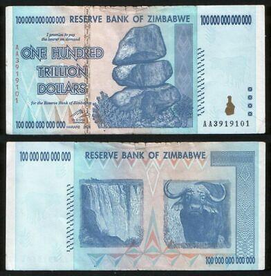 100 Trillion Zimbabwe Dollar Money