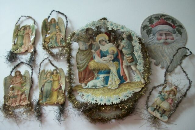 VINTAGE CHRISTMAS LITHOGRAPH DECORATIONS