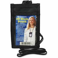 Baumgartens Id Neck Pouch Vertical Adjustable Cord 2-1/4x3-1/2 Bk 55120