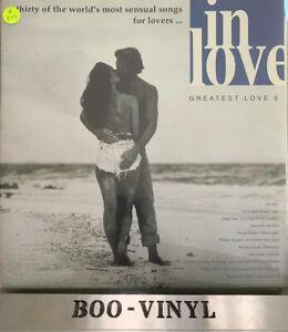 Various-In-Love-Greatest-Love-5-2-Vinyl-LP-33rpm-Comp-1991-Telstar-Ex-Con