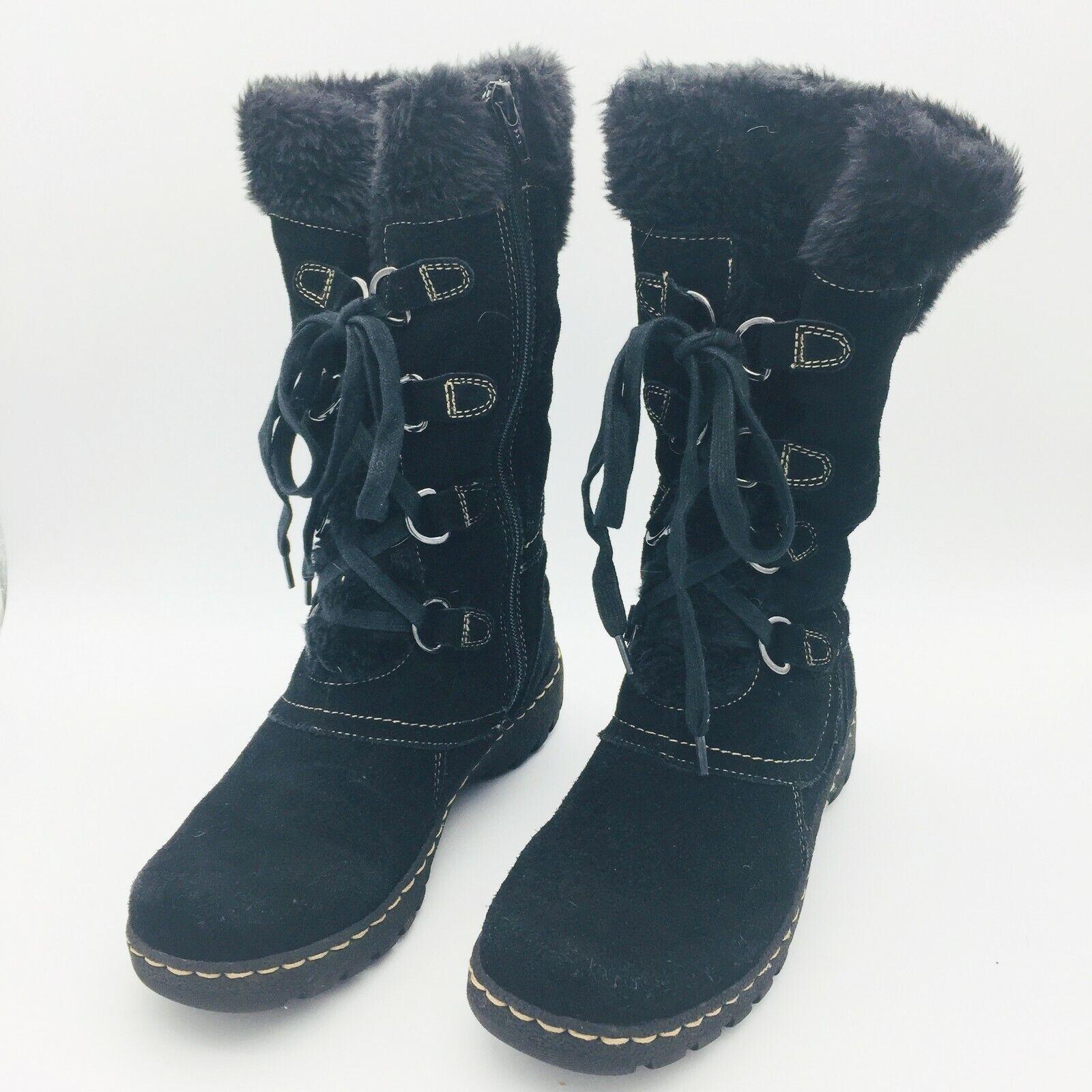 Bare Traps Black Leather \u0026 Faux Fur