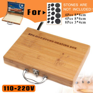 Hot-Stone-Massage-Heater-Box-Case-For-16x-Lava-Spa-Rock-Basalt-Stones-Body-SPA