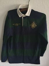 VINTAGE RALPH LAUREN POLO NEW YORK RUGBY SHIRT SMALL CREST PATCH 5 SUPREME