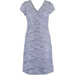 Details About New Scarlett Premium Womens Light Blue Lace Sequin Artichoke Midi Dress Uk 10