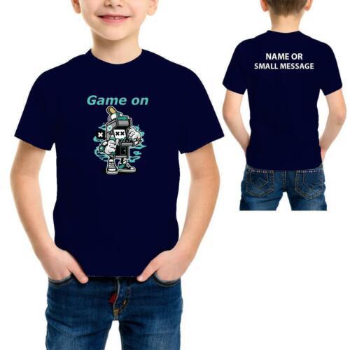Game on Funny  player Boys cartoon Printed T-Shirt