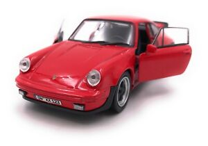 Porsche-911-Turbo-930-Voiture-Sport-Modele-Avec-Wunschkennzeichen-Rouge-1-3-4
