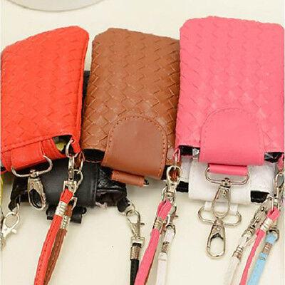Women Wallet Purse Woven Coin Cell Phone Case Mobile Bag Pouch Mini Shoulder Bag