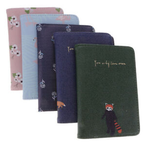 Travel-Flower-Animal-Print-Passport-Cover-Case-Holder-PU-Leather-Card-Organizer