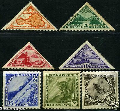Tannu Tuva. Year 1935. Sc. 54-60. MLHOG. SCV $24.00. 10th set. Views.