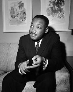 Civil Rights Activist MARTIN LUTHER KING JR Glossy 8x10 Photo Print Poster