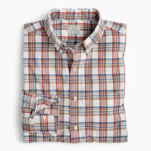 67ea40dc20301 Details about New J Crew Secret Wash Slim Stretch Shirt Long Sleeve Button  Down Red Blue NWT