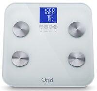 Ozeri Touch 440 lbs Total Body Bath Scale ZB13-W new retail boxed