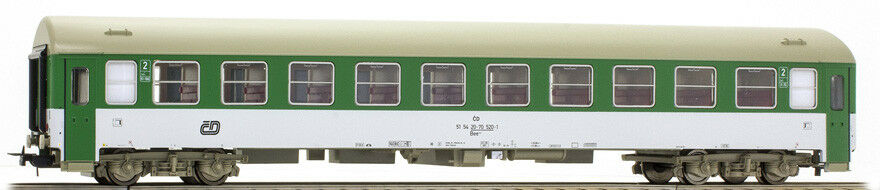 Tillig 74831 second CL. ČD Czech Railways Livery Green White, sliding doors