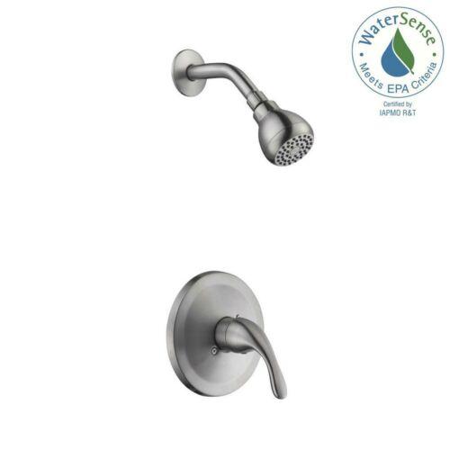 Glacier Bay Builders Single-Handle 1-Spray Shower Faucet Brushed Nickel