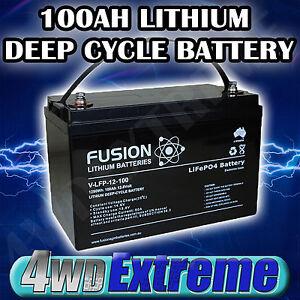 12v 100ah lithium lifepo4 deep cycle battery caravan solar. Black Bedroom Furniture Sets. Home Design Ideas