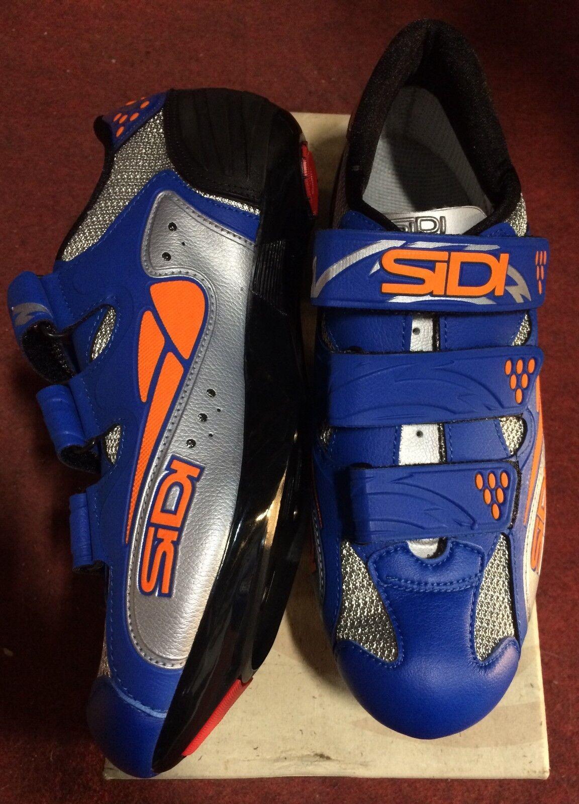 shoes bici corsa Sidi Iron strada road bike shoes 41 blue arancio
