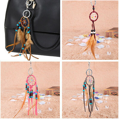 Dream Catcher Feather Handbag Key Chain Keyring Ring Bag Keychain Keyfob GIFT