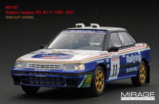 Subaru Legacy RS 1991 RAC Vatanen Berglund 1 43 8187 Mirage HPI RACING