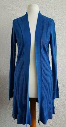 Femme m/&s Cardigan Long Côtelé en Tricot Swing Cardi Taille S-XL