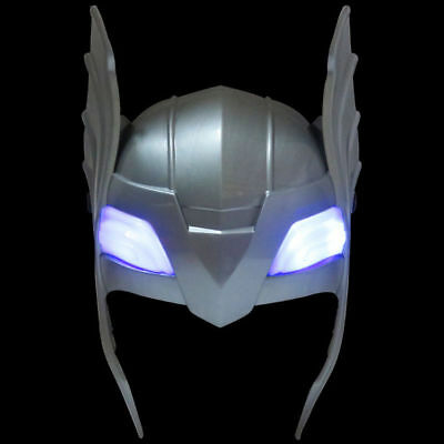 NEW THOR MARVEL INFINITY WAR HERO LED LIGHT UP KIDS MASK FANCY DRESS COSTUME