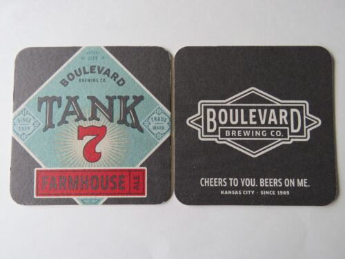 MISSOURI Beer Coaster ~ BOULEVARD Brewing Co Tank 7 Farmhouse Ale ~ Kansas City