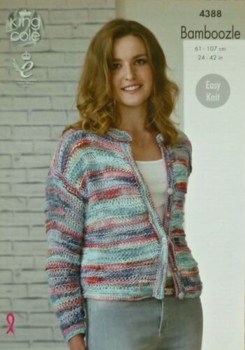 Tejer patrón niñas//damas easyknit dropstitch cardigan//suéter estafa 4388