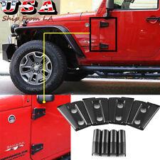 4pcs Black Door Hinge Side 2dr Cover Decor Trim For 2007 2018 Jeep Wrangler Jk Fits Jeep Wrangler Unlimited