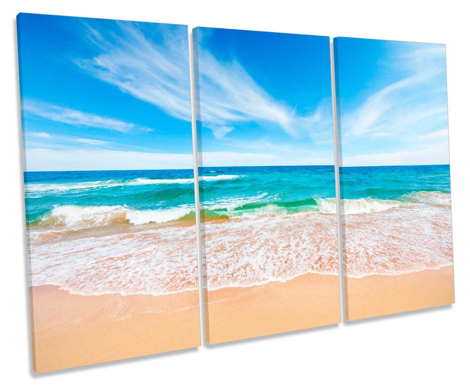 Paisaje Marino Playa Olas Olas Playa Azul Lona Pared Arte Impresión de agudos imagen 954e73