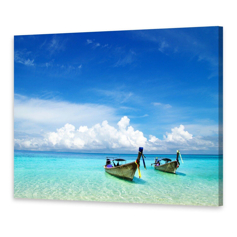 - Tela Immagini Immagine Parete stampa su canvas stampa d'arte spiaggia barche
