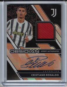 2020 21 Panini Obsidian Soccer Cristiano Ronaldo ORANGE AUTO RELIC 6/10 Juventus