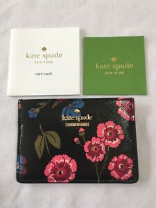 KATE-SPADE-CAMERON-CARD-WALLET-LUXURY-MEADOW-CROSSGRAIN-LEATHER-NEW-WITH-TAG