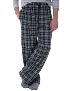 Fruit of the Loom Men/'s Fleece Sleep Pant Size L Black XL  Striped Red