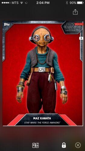 Topps Star Wars Digital Card Trader Red Cloth Maz Kanata Base Variant