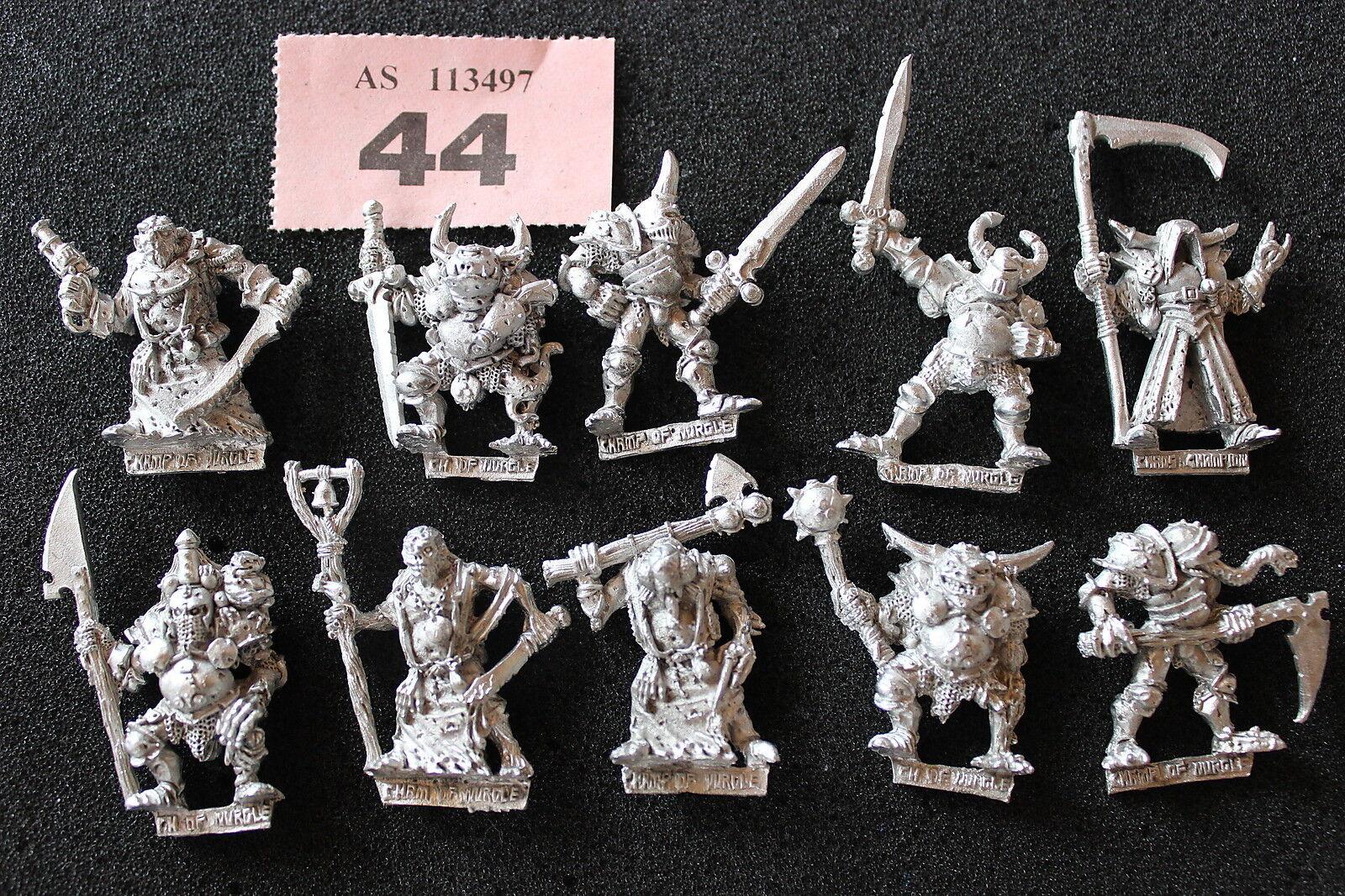 Spel Workshop Warhammer Chaos Champions of Nurgle x10 Metal Heralds Army OOP