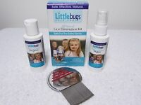 Littlebugs Complete Lice Elimination Kit Pesticide-free 3 Step Comb, Nit, Serum
