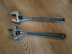 Pair of Vintage BAHCO 0673-300 - 12 inch Adjustable Wrench's